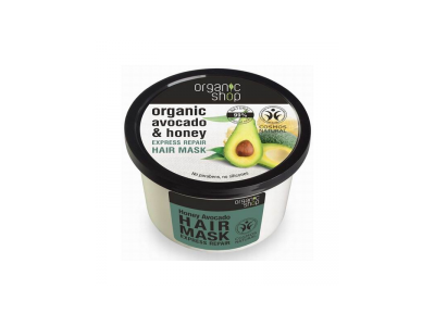 Organic Shop Maska do włosów awokado i miód 250 ml