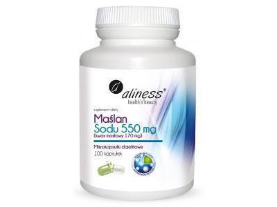 Maślan Sodu 550 mg Kwas masłowy 100 kaps.